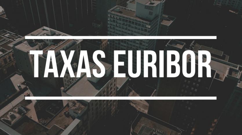 Seguro de Créditos - Taxas Euribor caem a três, a seis e a 12 meses
